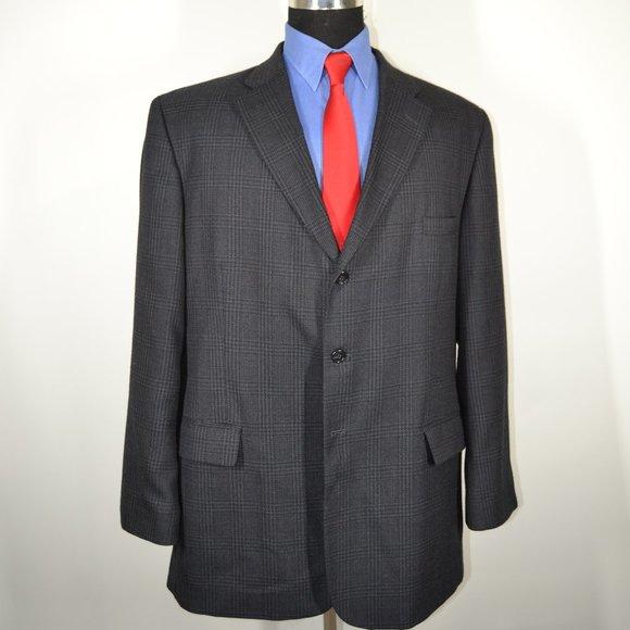 Haggar Other - Haggar 48L Sport Coat Blazer Suit Jacket Gray Blac